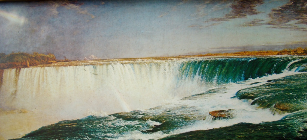 Convexed niagra falls painting in frame (3)
