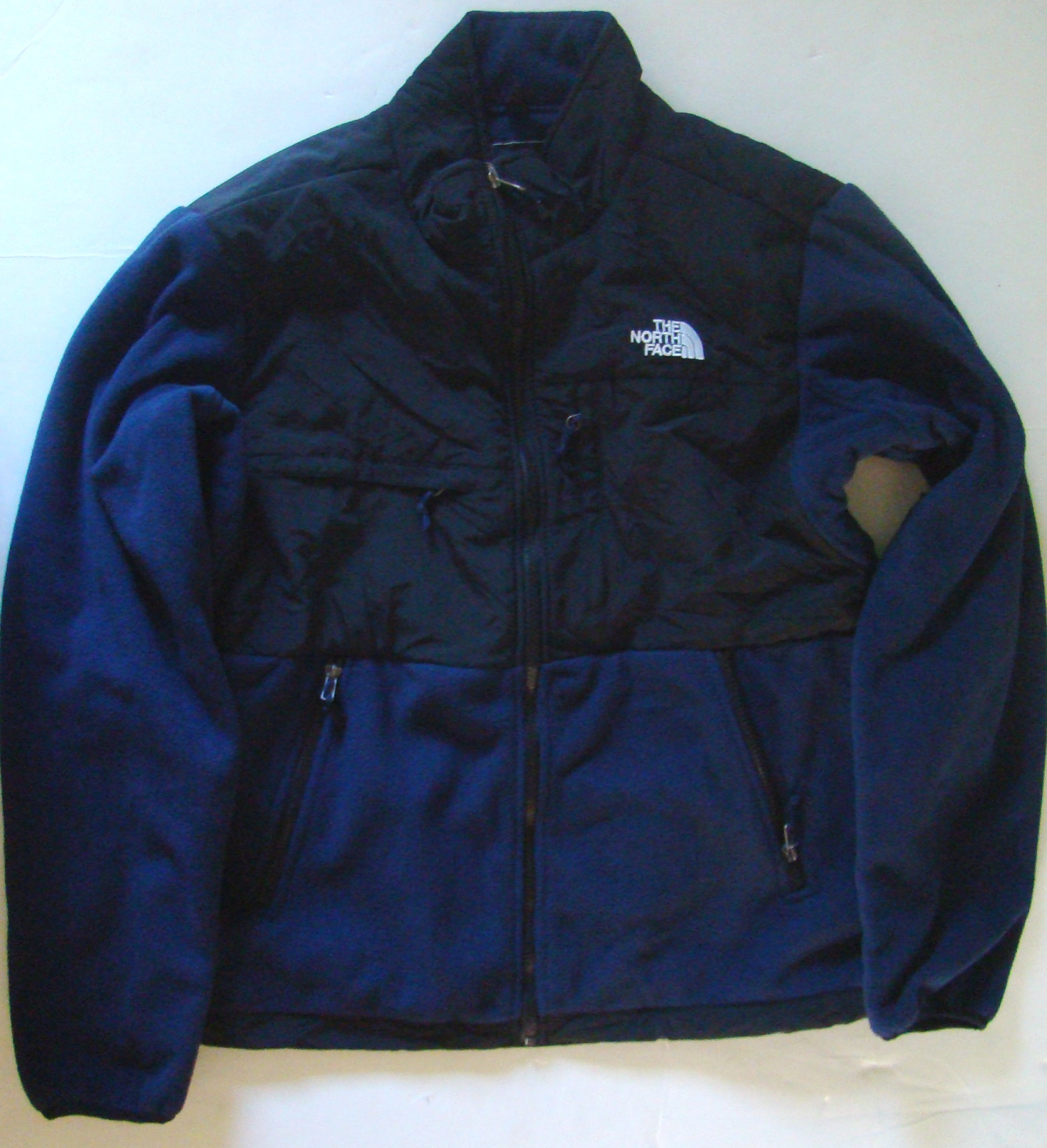 Mens navy blue   Black large denali jacket (7)