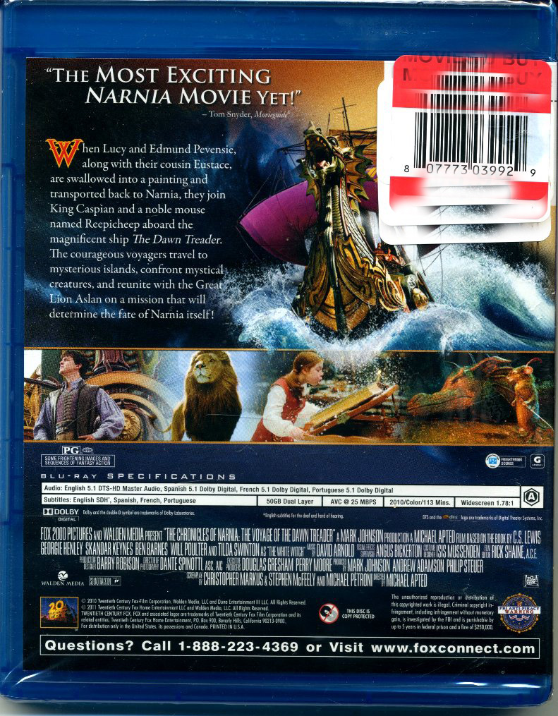 Narna voyage of the dawn trade blu-ray (1)