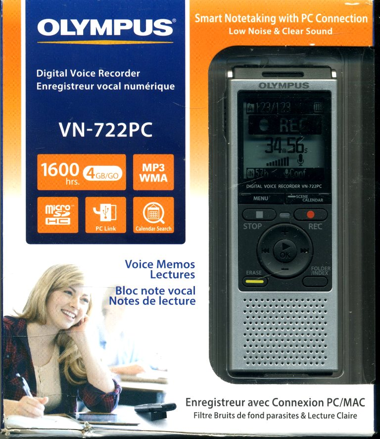 Olympus vn-722PC digital Voice Recorder (3)
