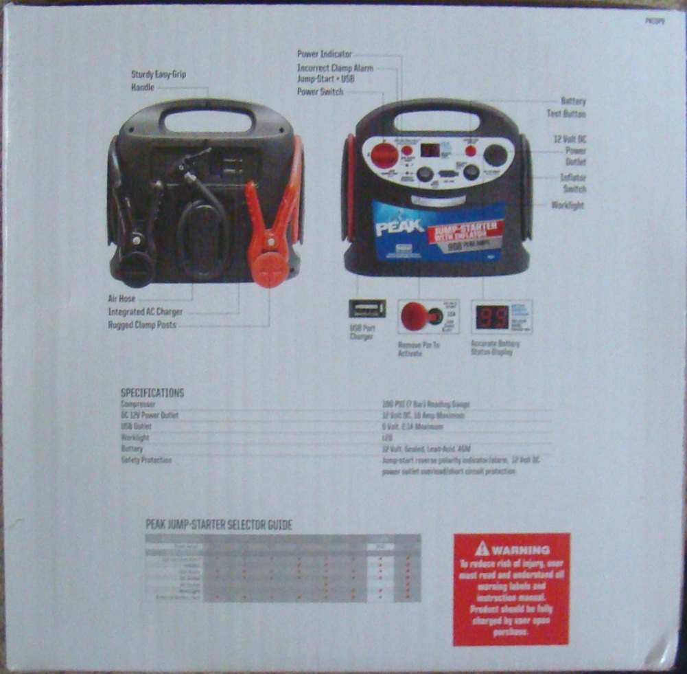 PEAK 900 jump starter and tire inflater (2)