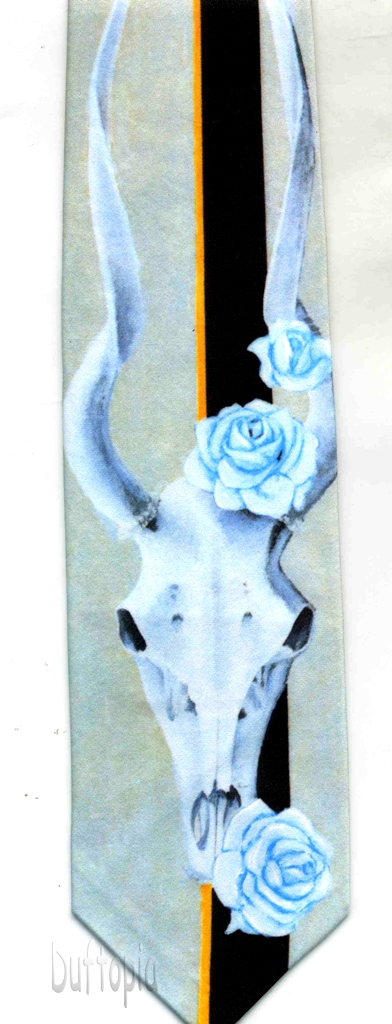 Rm - Skull with roses tie