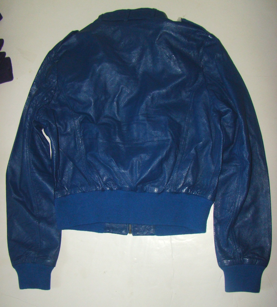 S&J Blue XL Leather Jacket womens (3)